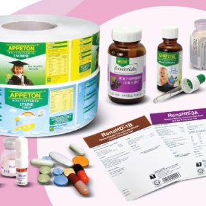 Самоклеящаяся этикетка для фармацевтической упаковки