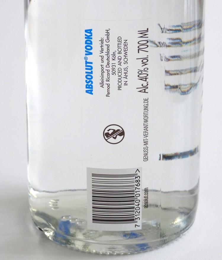 Прозрачная этикетка clear-on-clear